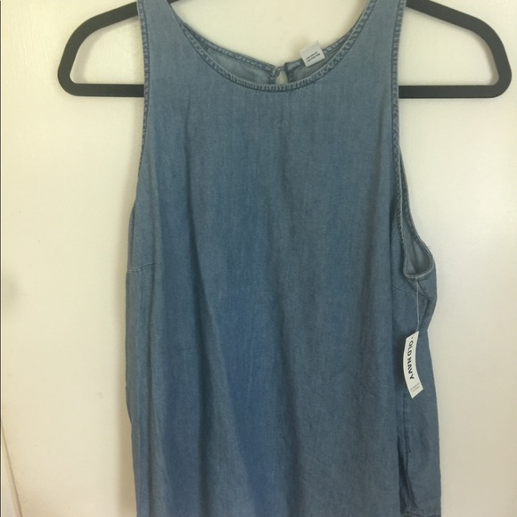 Old Navy Tops - Old navy sleeveless denim top NWT SIZE L